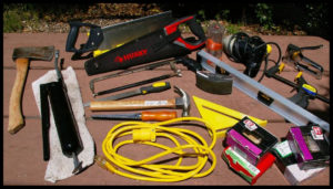 John's carpentry tool set