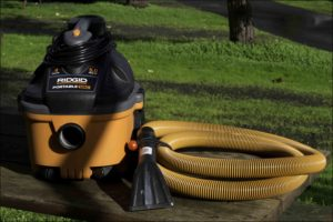 We use this shop vac for keeping the vehicles' interiors clean.