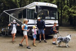 RVing Family With Dog