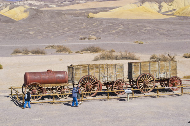 20-mule-team-wagon at Death Valley National Park
