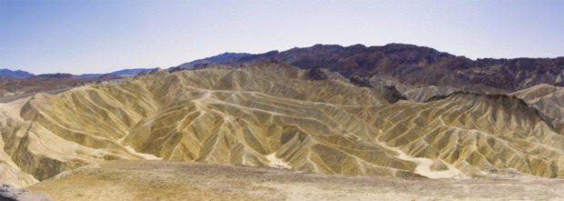 Zabriskie Point Badlands at Death Valley National Park