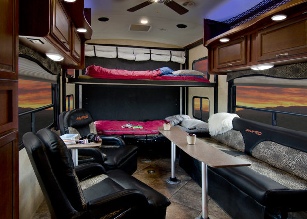 Indiana RV Manufacturer Evergreen Recreational Vehicles Has Taken Toy Haulers To A New Level With The Introduction Of Its 2014 Amped Hauler See Some