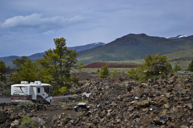 Craters Moon Motorhome in campground scene DSC_0248