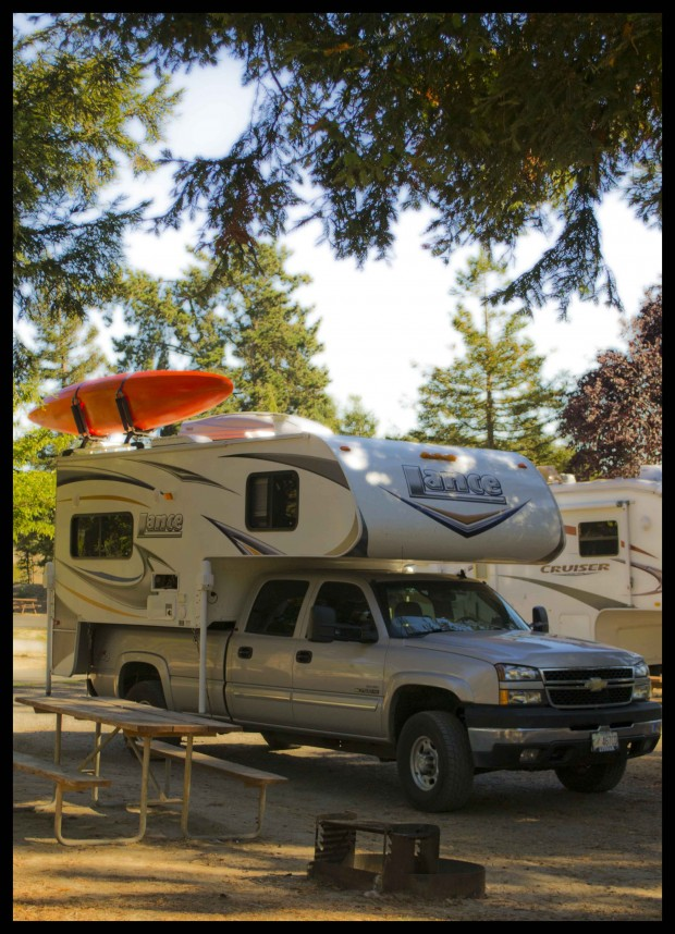 Or maybe economy, utility and outdoor recreation are your style in a Lance camper with a kayak rack.