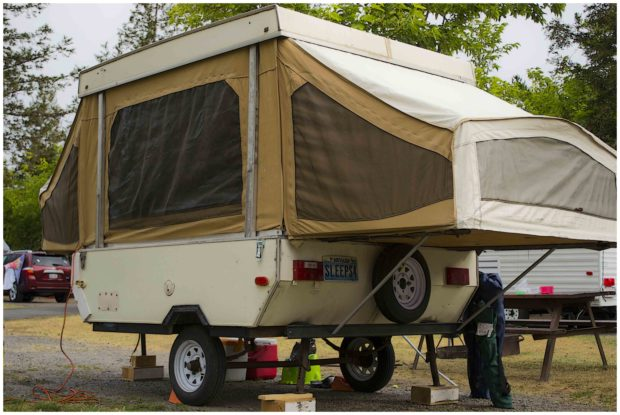 Little RV Popup Tent Double End