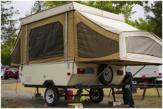 Little RV Popup Tent Double End