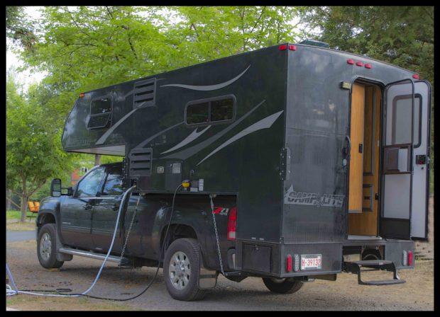 Little RV black camper
