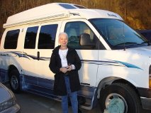 Three top pieces of advice from Lois Requist if you are a woman planning a road trip alone in your RV: 1. Have a dependable vehicle. 2. Drive during daylight hours. 3. Stay in campgrounds where there are other people.