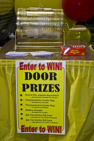 Door Prizes at RV Show