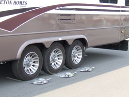 RV Wheels on Scales