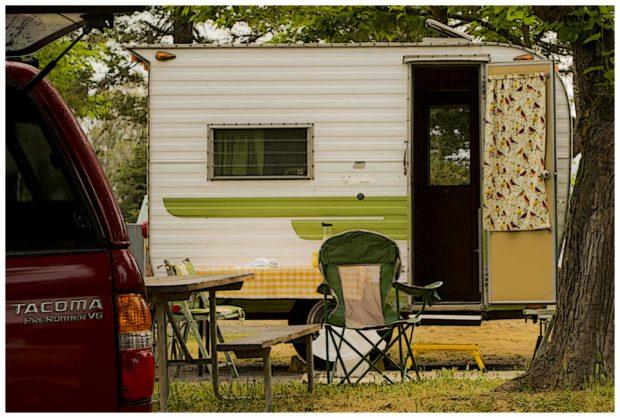 RVs small old trailer