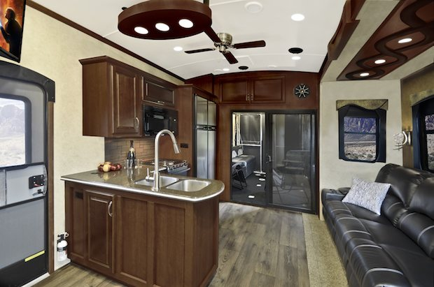 2 bedroom motorhome evergreen s new tesla brings luxury to 5th wheel 10016