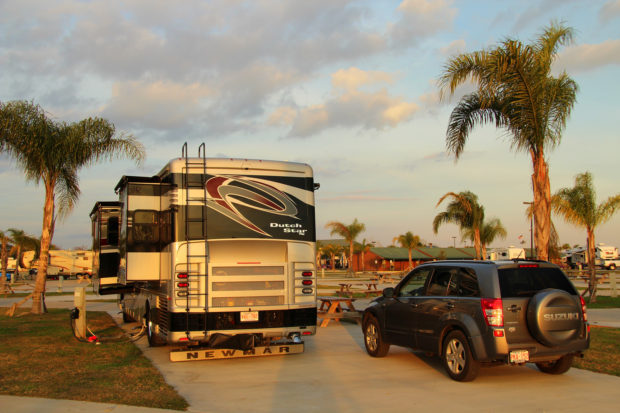 This is the RV in which Rex Vogel spends his time and does his traveling.