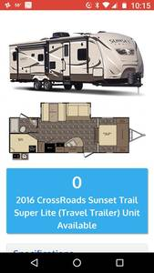 2016 CrossRoads Sunset Trail Super Lite 270BH