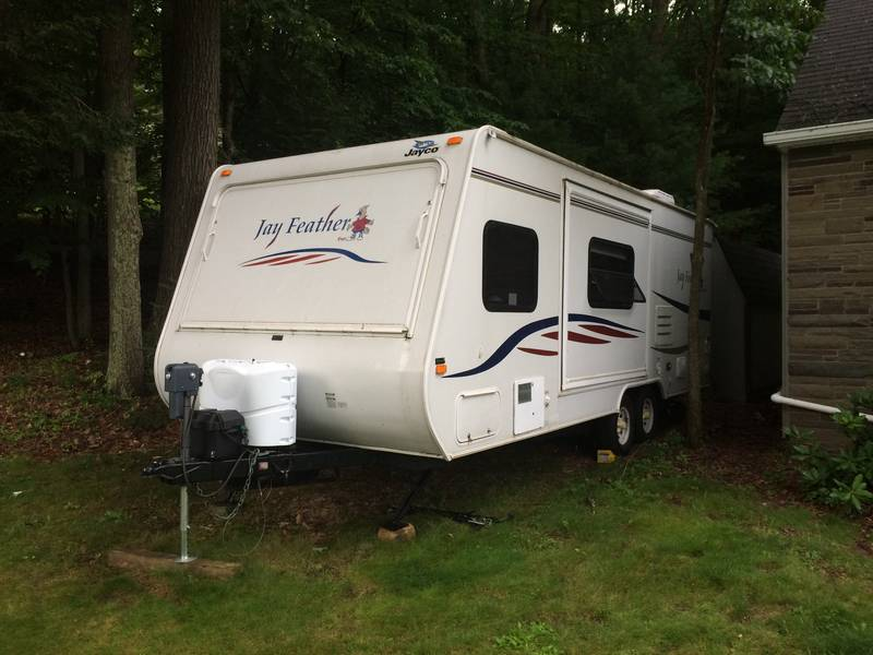 2008 jayco jay feather 23b travel trailers hybrid rv for sale by owner in oneonta new york. Black Bedroom Furniture Sets. Home Design Ideas