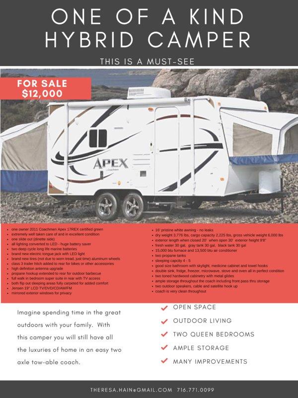 2011 Coachmen Apex 17REX for sale - Cowlesville, NY