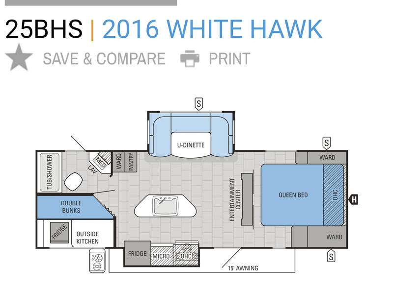 2016 Jayco White Hawk 25BHS