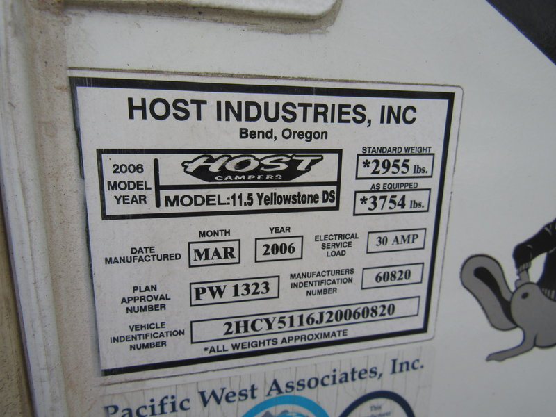 2006 Host Industries Host Yellowstone DS