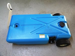 Barker Mfg 32 gallon Pullalong Waste Caddy