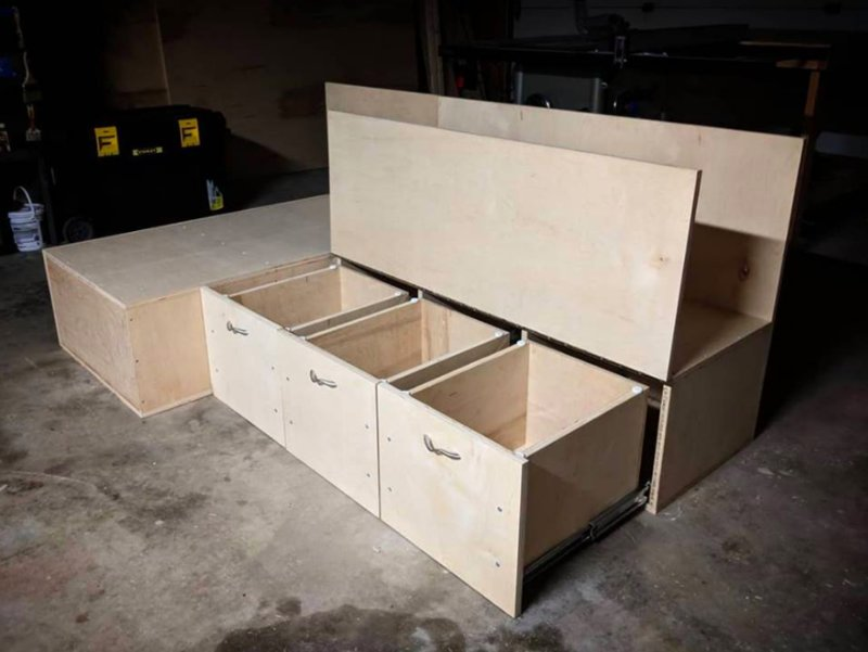 Small Van Bench Bed Kit