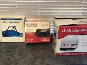 Dish Playmaker Portable Antenna Dish Receiver and Antenna Tripod Mount