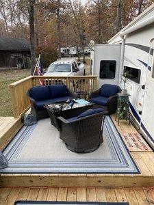 RV Lot  Deck